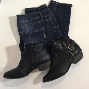 Madden Girl black ankle booties Sz 7.5 short heel